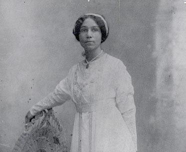 Anne Spencer in her wedding dress.