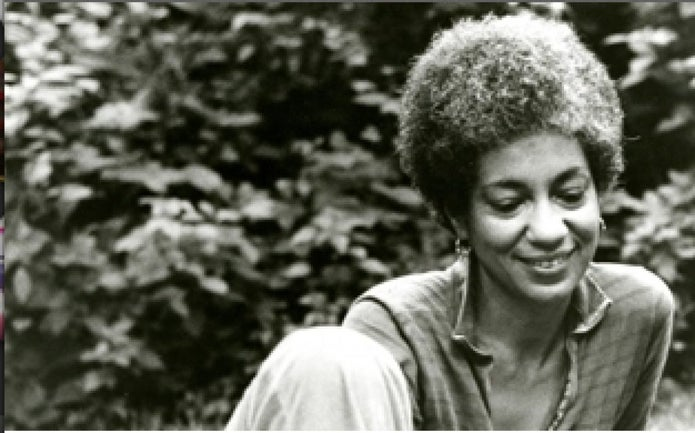 A photo of poet and Civil Rights activist June Jordan.