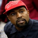 "[Image Description: Kanye West wearing a red cap that reads ""Make America Great Again"" in white.] Via REUTERS/Kevin Lamarque."
