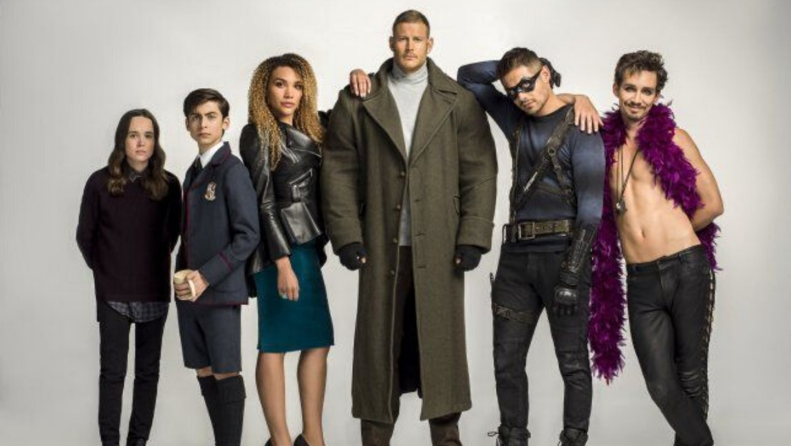 The cast of the Umbrella Academy.