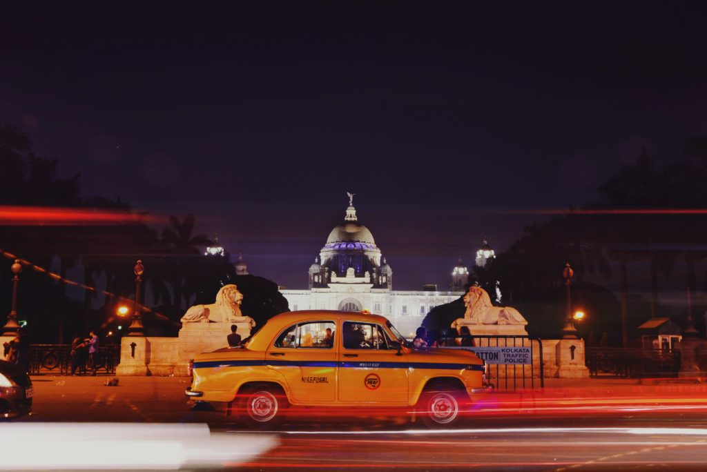 A picture of a yellow taxicab, famously found in Kolkata