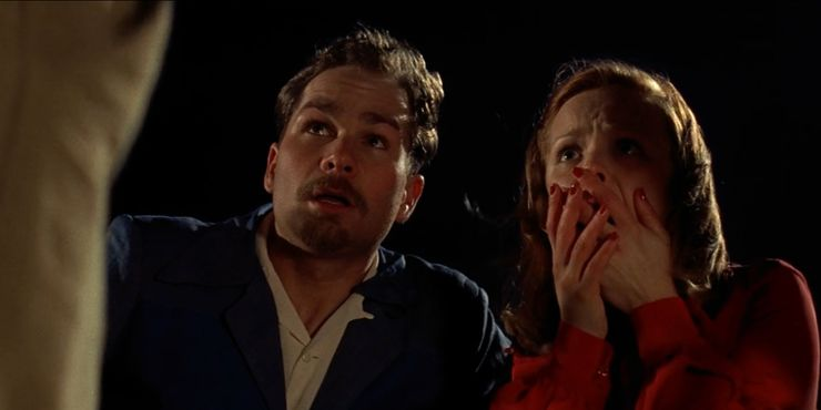 """Still from """"The Notebook"""": A man and a woman look up shocked. Via screenrant.com."""