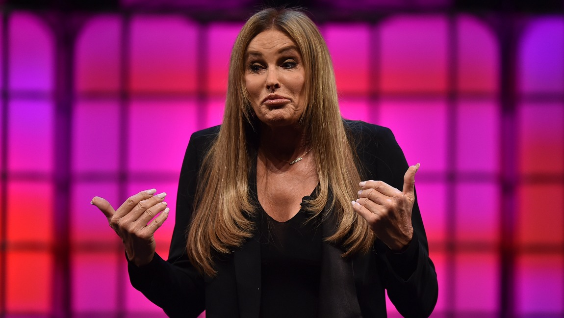 Caitlyn Jenner, one of the most visible white trans women, gives a talk.