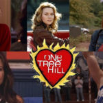 [Image description: A collage of all the one tree hill main characters with a. heart in the middle that states the show name.]