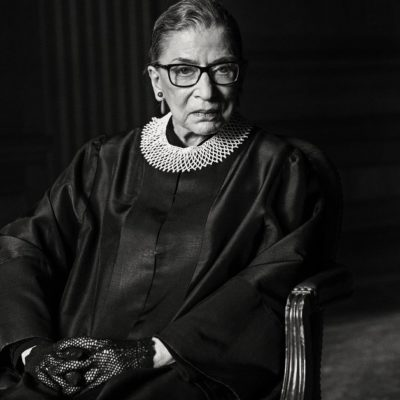 [Image Description: Black and white portrait of an old Ruth Bader Ginsburg] Via TIME.