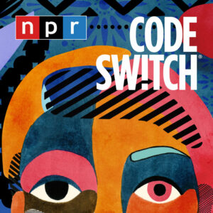 "A multi-colored face with different patterns, and the words ""Code Switch"" on the side."