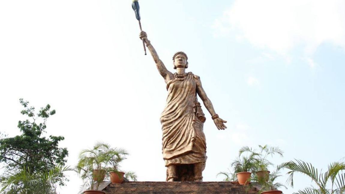 [Image description: Statue of Queen Mọ́remí] via Face2FaceAfrica