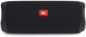 The JBL Flip 5 waterproof speaker.