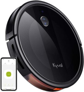 A Kyvol robot vacuum cleaner.