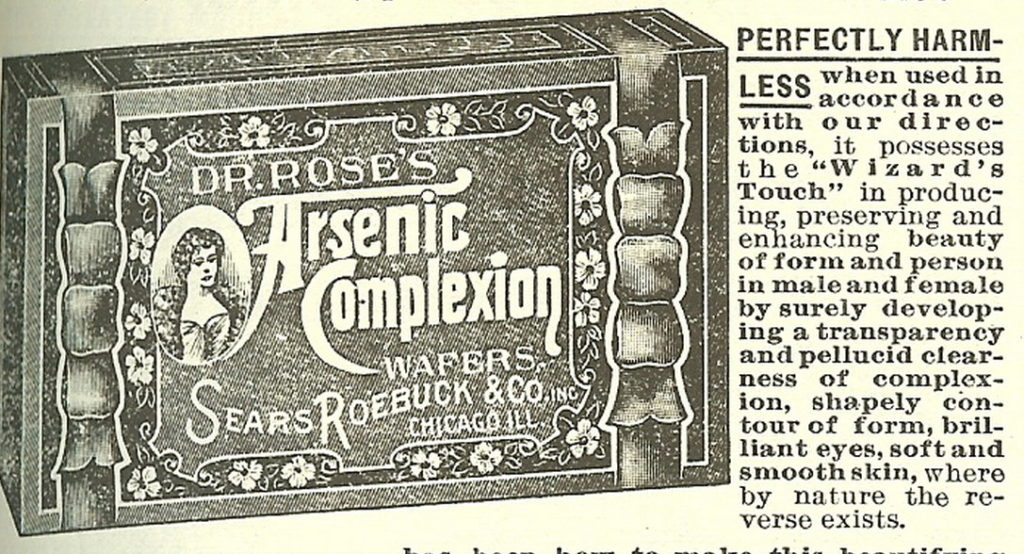 Sears ad for arsenic wafers.