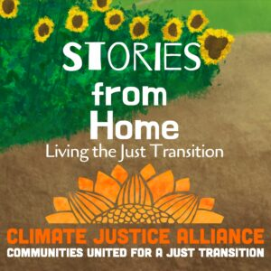 Logo for Stories from Home: Living the Just Transition.