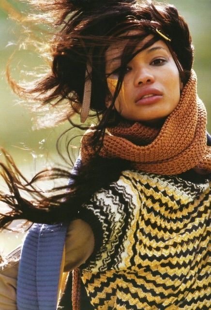 Chanel Iman in an oversized sweater