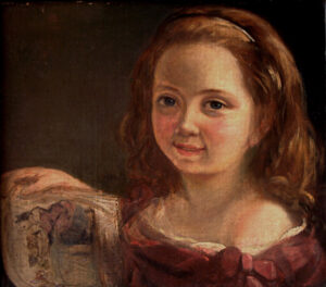 [Image description: oil painting portrait of 7-year-old Ada Lovelace.] via Wiki Commons