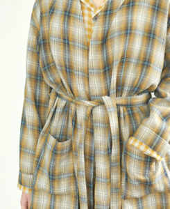 Yellow flannel robe
