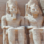 Two Ancient Egyptian statues.