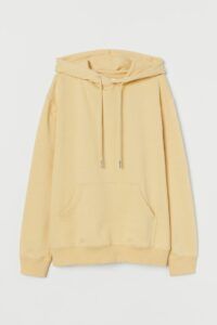 A pale yellow sweatshirt