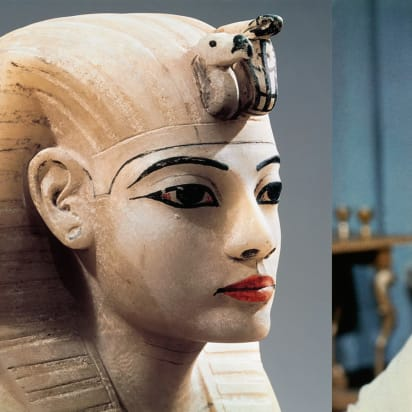 Ancient Egyptian statue.