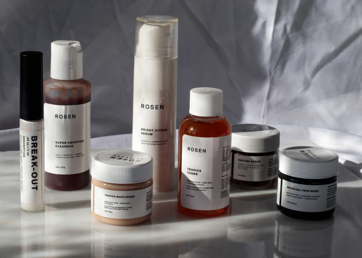 [Image description: Skin care products from Rosen Skincare.] Via sodazzlingblog.com