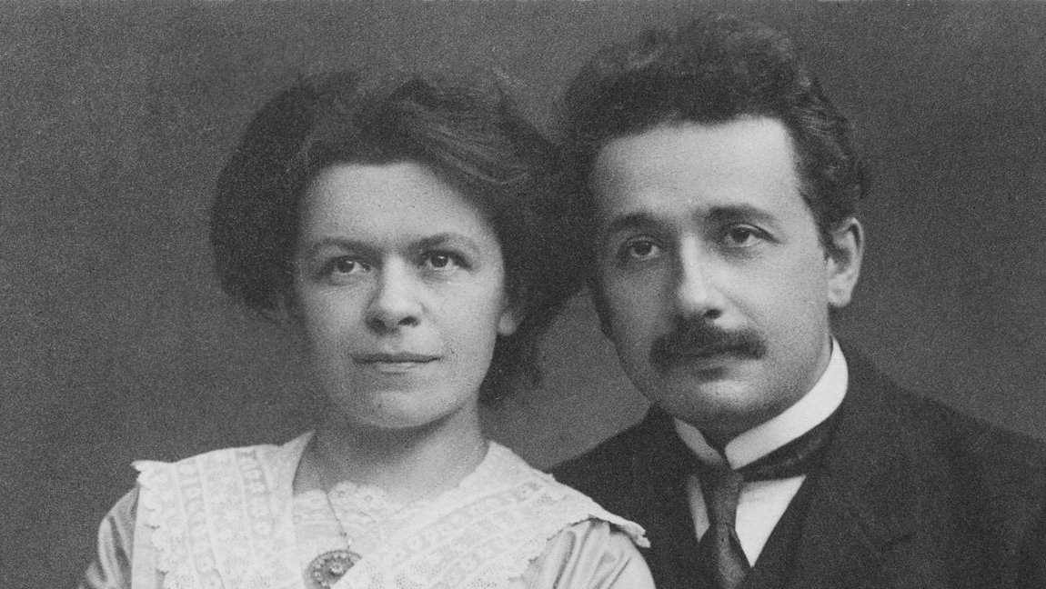 A photo of Mileva Marić, with her husband, Albert Einstein.