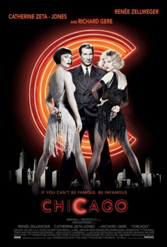 The movie poster for the film that was adapted from the musical.