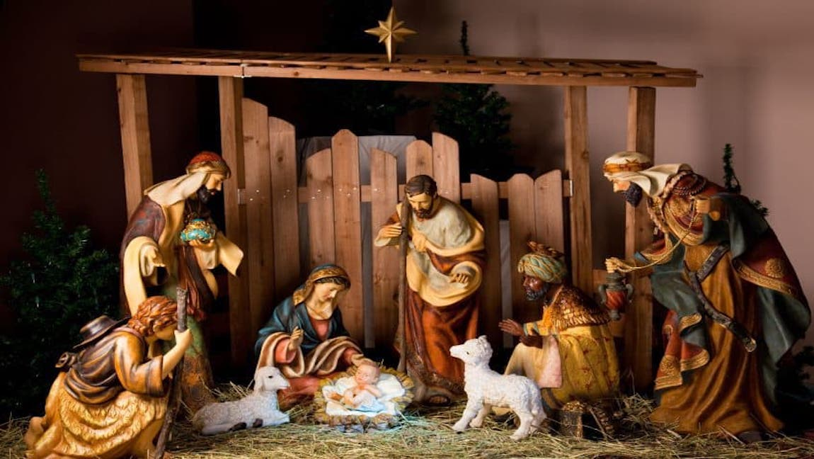 nativity scene conceptualized through figurines.] via Christmas FM