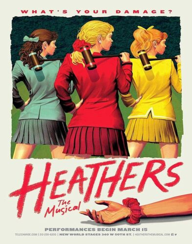 Heathers: The Musical theatrical poster.