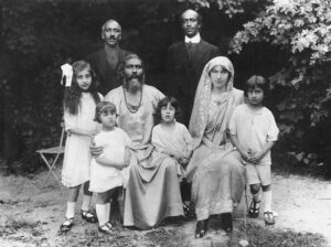 Noor Inayat-Khan, left, (as a young child) with family members including her father Inayat Khan, mother Pirani Ameena Begum and siblings.
