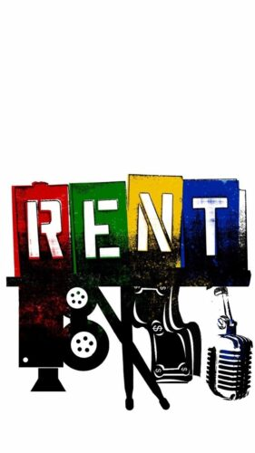 Theatrical poster for Rent that is used for promotional purposes.