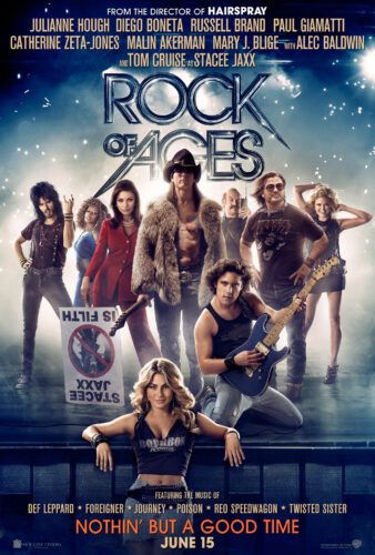 The 2012 movie poster for the movie musical Rock of Ages.