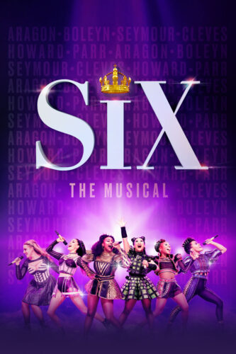 Musical poster for the musical The Six which features the six main cast members