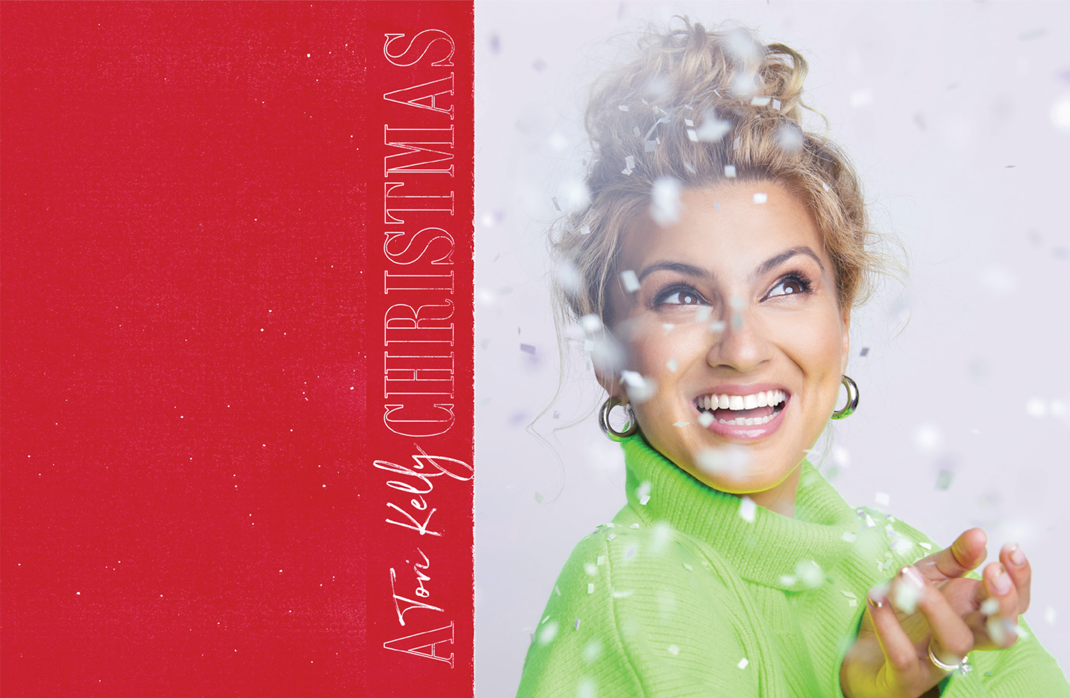 Tori Kelly's holiday album cover.