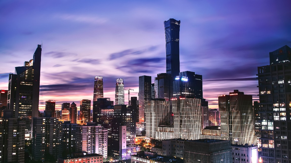 Skyline of Beijing, China's capital.