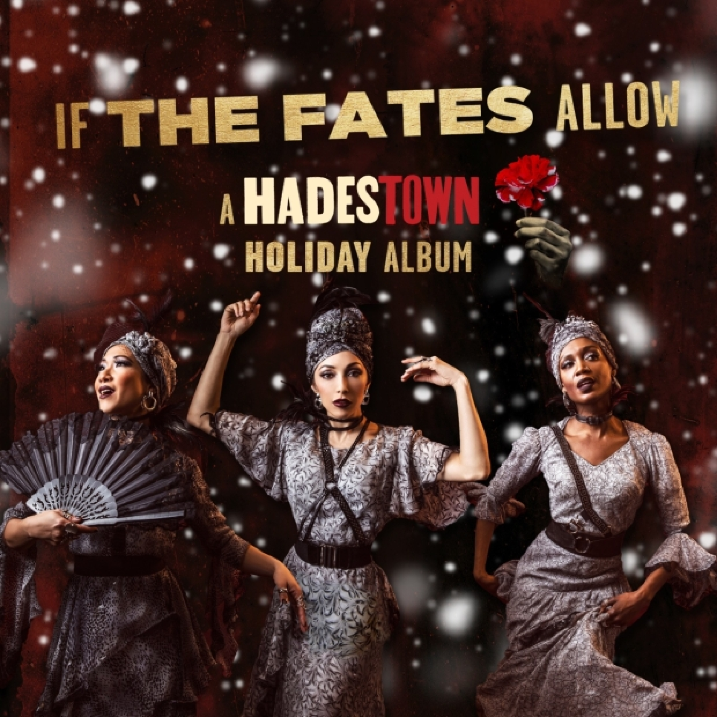 Hadestown's holiday album cover.