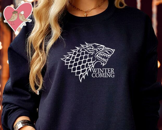 WINTER IS COMING jon snow Game of Thrones Inspired sweatshirt Christmas Jumper Unisex Kids Sweater Sweatshirts Gift