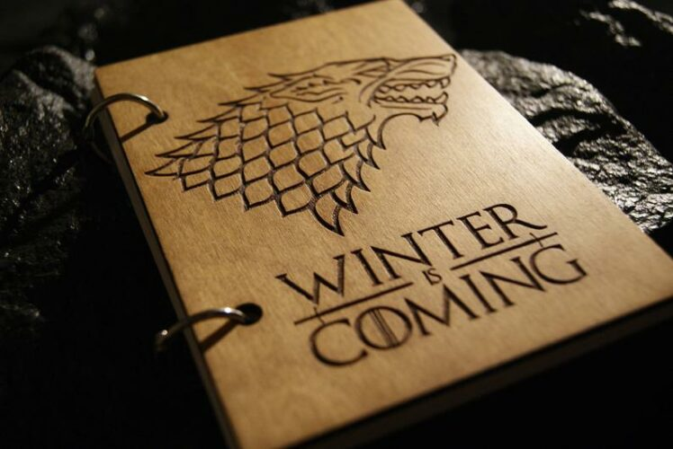 Winter is Coming Wooden Notebook