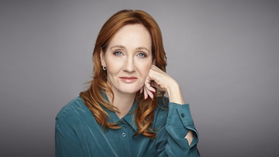 [Image Description: A portrait of J.K.Rowling from Rowling] Via Rowling's author website