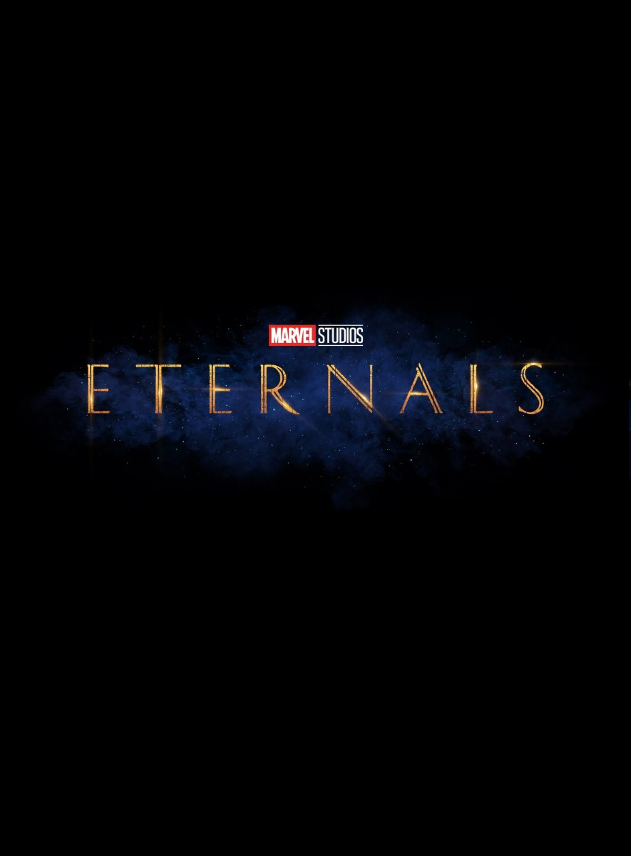 Eternals in all caps with Marvel Studios written above it