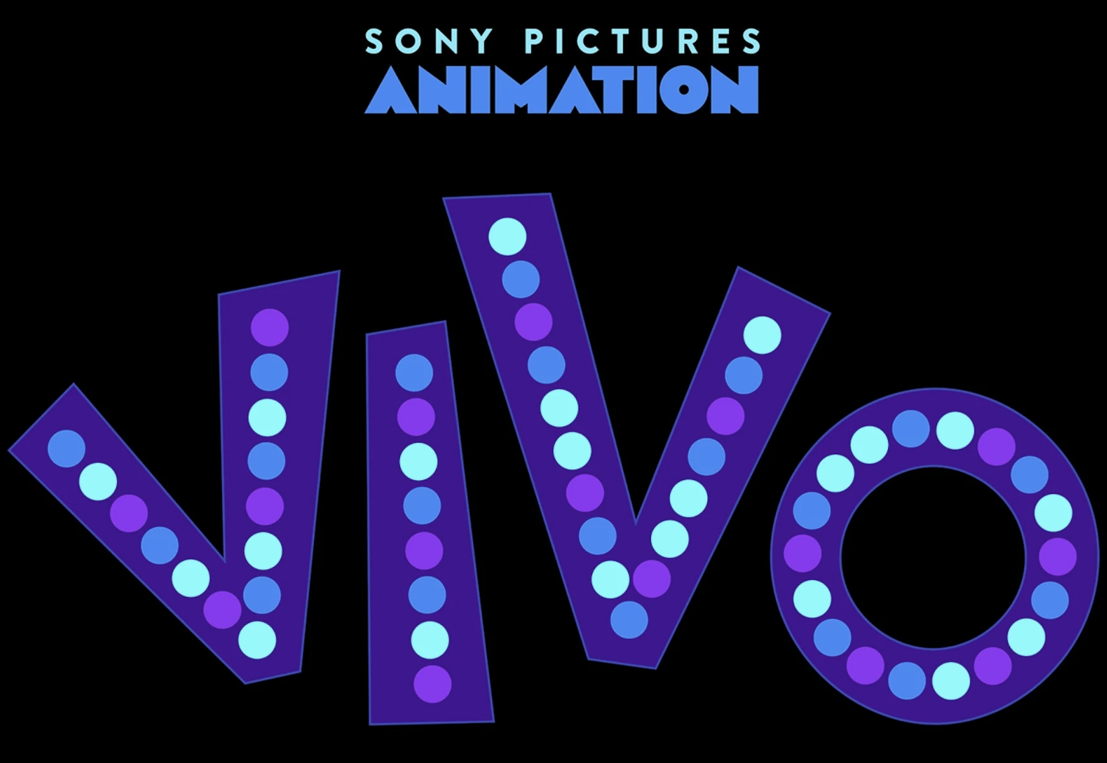 Vivo written in purple with blue and purple dots on top from IMDb