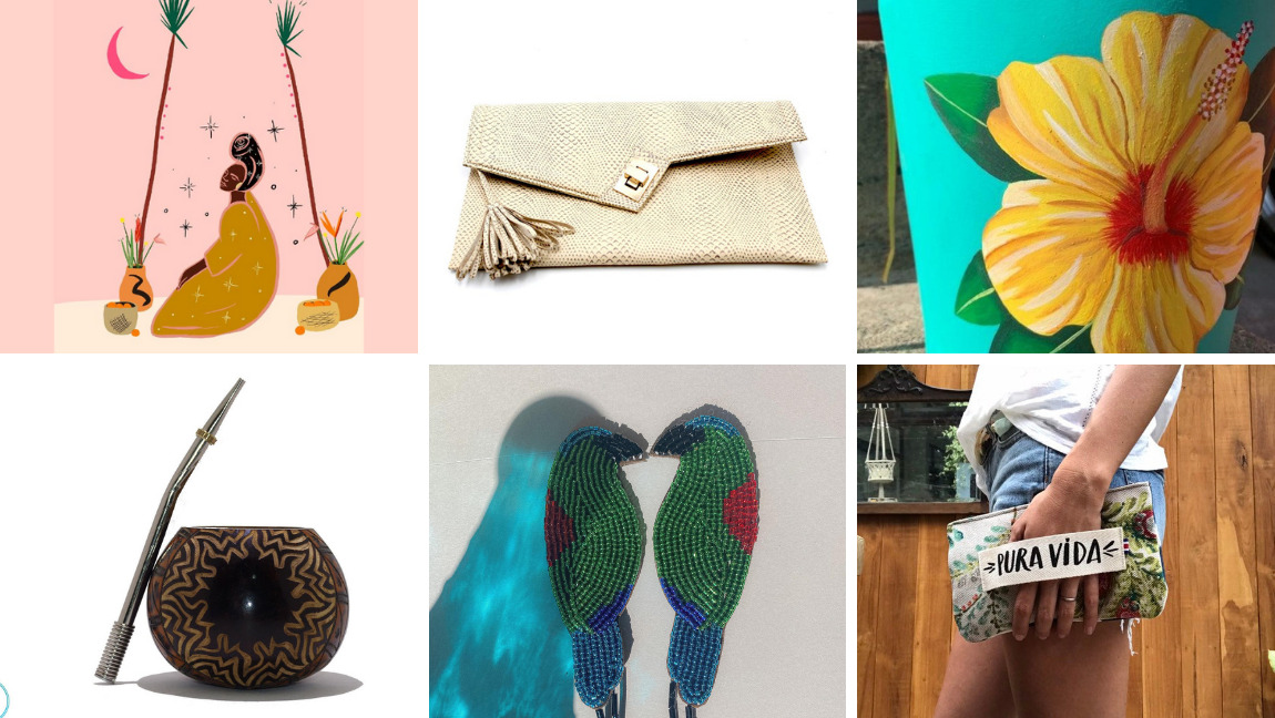 [Image description: a collage of items shown in the article.] via Etsy and The Tempest