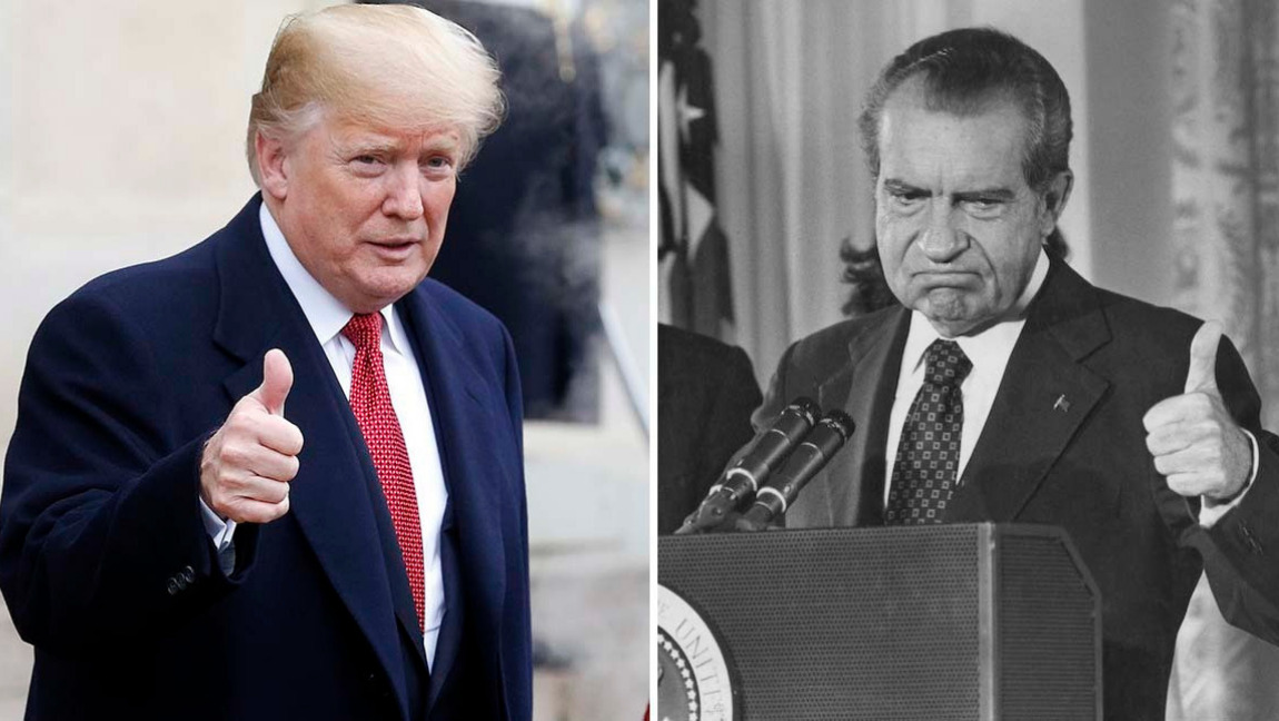 In hindsight: Trump tapes echo Nixon era controversy