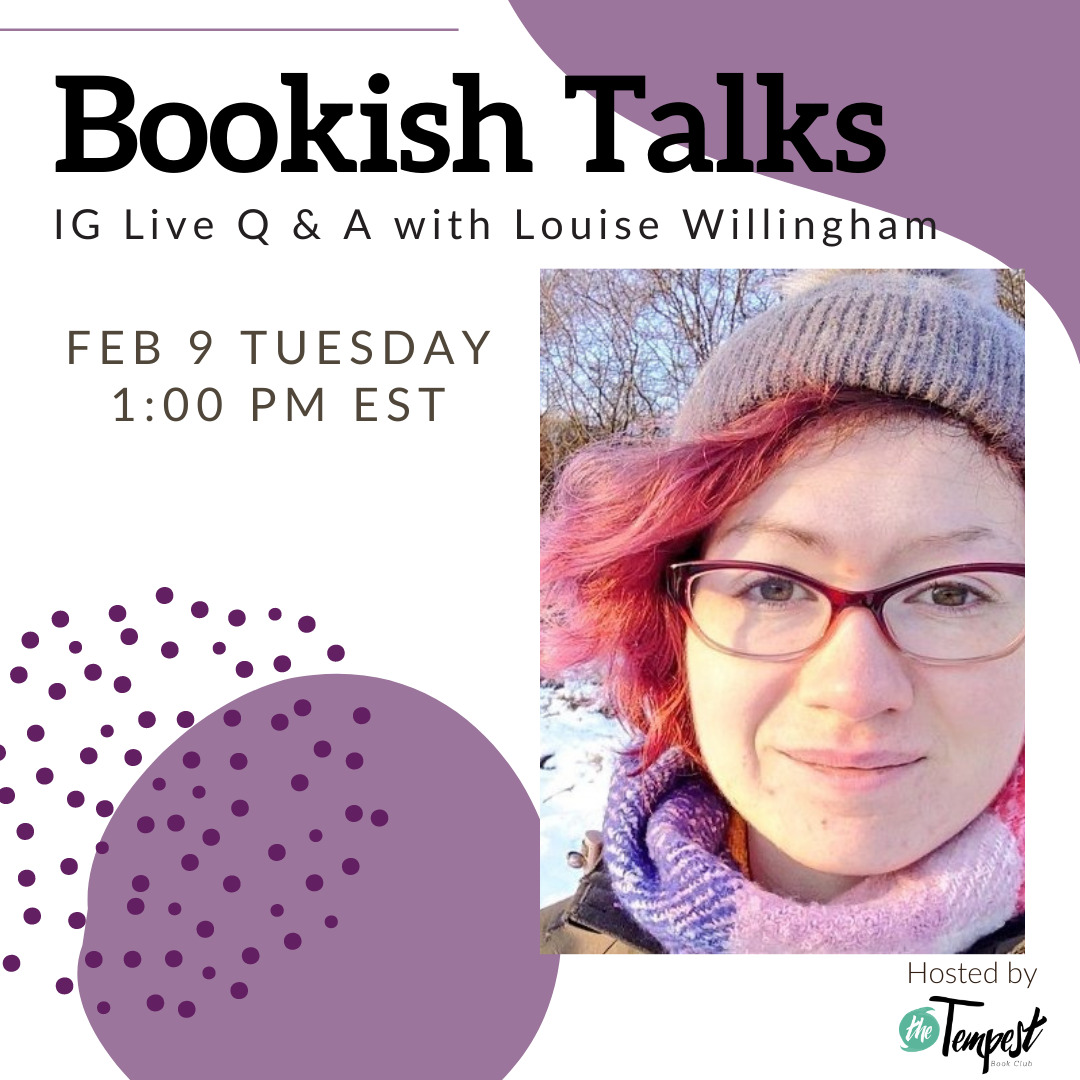 Instagram live with author Louise Willingham: February 9 at 1pm EST
