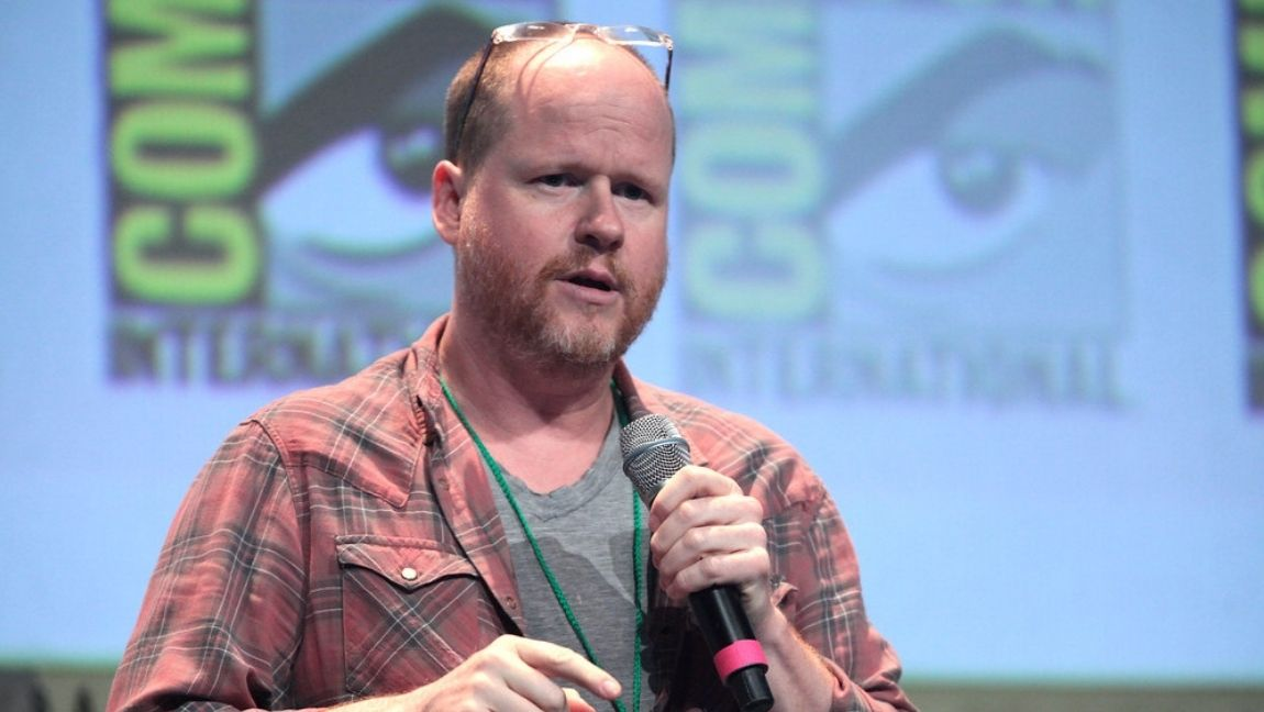 Joss Whedon speaking at the 2015 San Diego Comic Con International in San Diego, California.