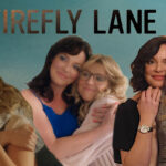 [Image description: A collage of different photos of the two Firefly Lane leads.] Via Netflix.