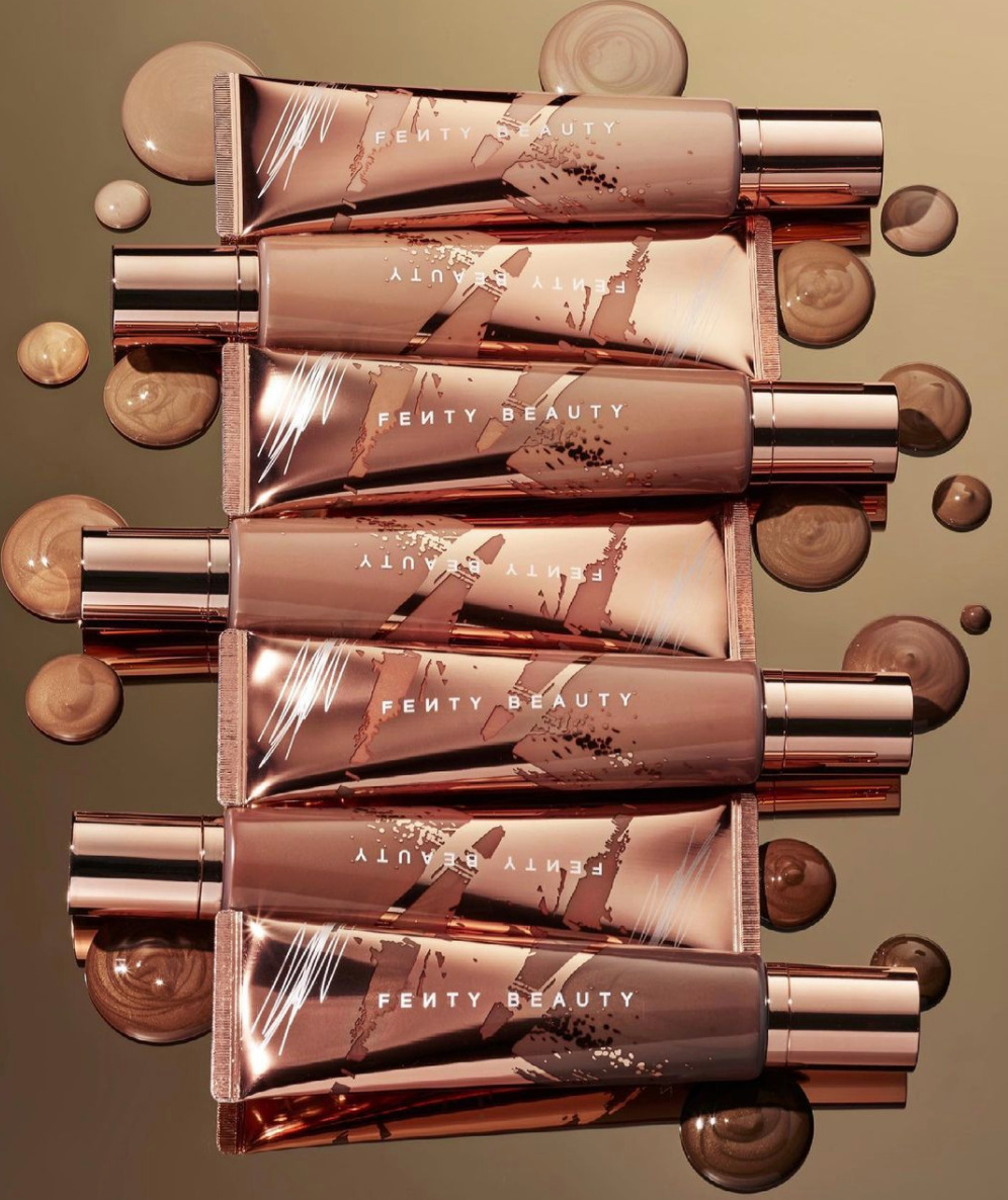 Seven body luminizing tint tubes in various shades