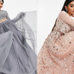 The two ASOS Bridal Lenghas advertised on Twitter.