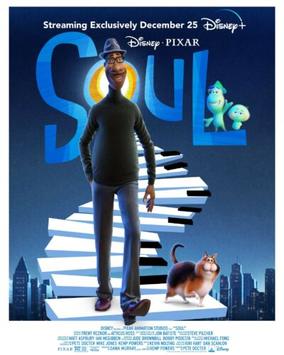 The offical poster for Pixar's laestest animated film, Soul