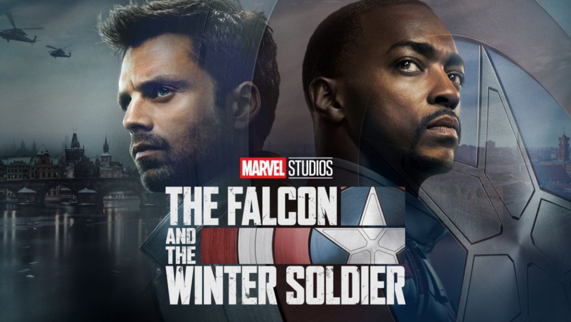 [Image description: Falcon and the Winter Soldier television poster.] Via Disney Plus