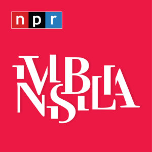 The word 'INVISIBILIA' is written in white on a red background and the 'NPR' logo is in the top left corner.