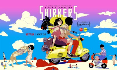 Spunky illustrations act as the film's main movie poster.