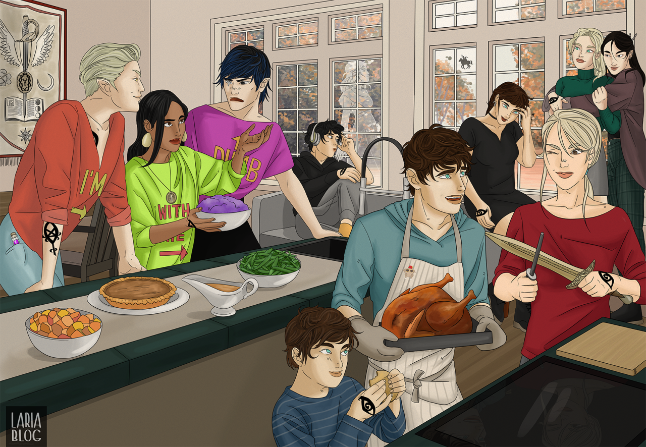 Fan art of the characters from The Dark Artifices series by Cassandra Clare.